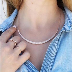 Chloe + Isabel Sparkling Rosé Pavé Collar Necklace